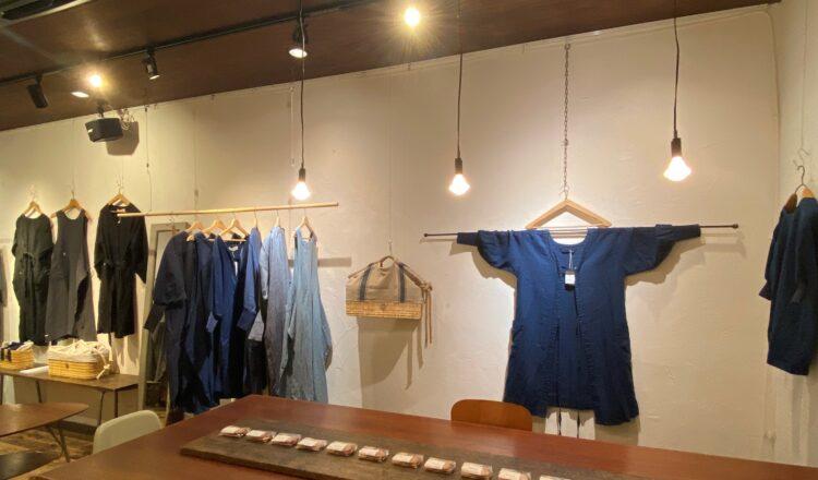 「割烹着とおいしいお買い物」kapoc展示会の様子